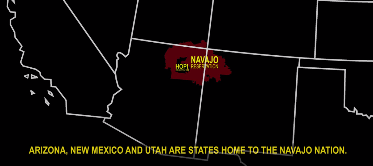 Map of the Navajo and Hopi Reservations